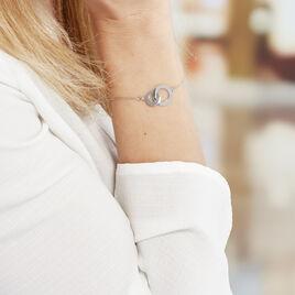 Bracelet Abbygael Argent Blanc - Bracelets fantaisie Femme | Histoire d'Or