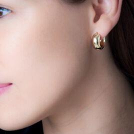 Créoles Telly Jonc Bombe Or Jaune - Boucles d'oreilles créoles Femme   Histoire d'Or