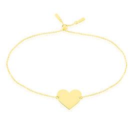 Bracelet Helenia Coeur Gravable Or Jaune - Bracelets Coeur Enfant   Histoire d'Or