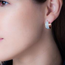 Créoles Lolly Fil Glitter Or Jaune - Boucles d'oreilles créoles Femme   Histoire d'Or