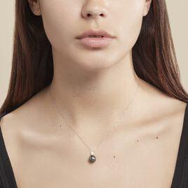 Collier Semi-baroque Or Blanc Perle De Culture De Tahiti - Bijoux Femme   Histoire d'Or