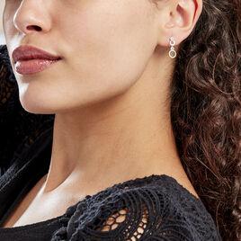 Boucles D'oreilles Puces Celinea Or Blanc Oxyde De Zirconium - Boucles d'oreilles pendantes Femme | Histoire d'Or