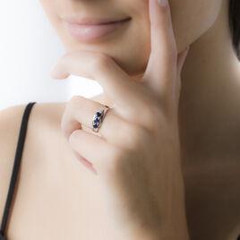 Bague Othylie Or Blanc Saphir Et Diamant - Bagues avec pierre Femme | Histoire d'Or