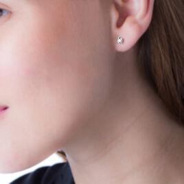 Boucles D'oreilles Puces Malania Or Blanc Diamant - Clous d'oreilles Femme   Histoire d'Or