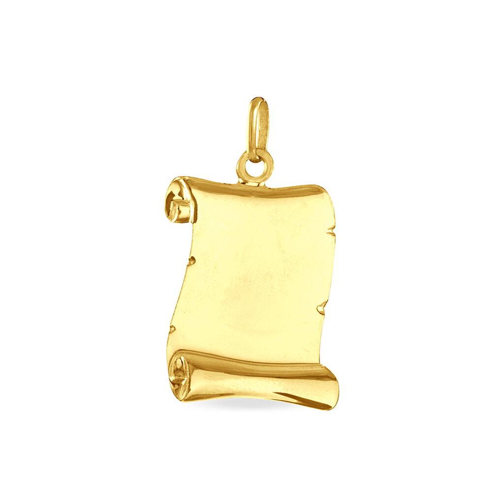 Pendentif Sirona Parchemin Gravable Or Jaune - Pendentifs Unisexe | Histoire d'Or