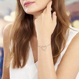 Bracelet Acier Motif Cœur - Bracelets Coeur Femme | Histoire d'Or