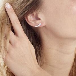 Bijoux D'oreilles Argent Rhodie Aldrick Riviere Oxyde - Boucles d'oreilles fantaisie Femme | Histoire d'Or