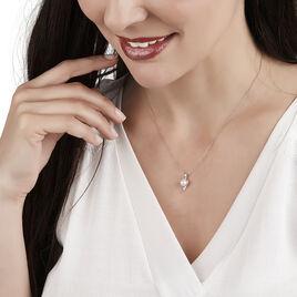 Collier Grazilla Or Bicolore Perle De Culture Et Diamant - Bijoux Femme | Histoire d'Or