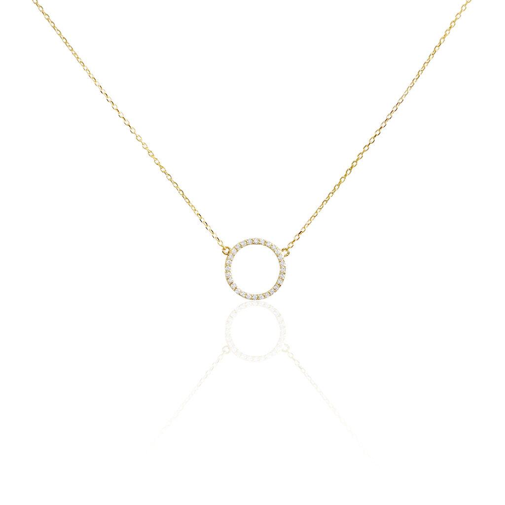 Collier Stip Or Jaune Oxyde De Zirconium - Bijoux Femme | Histoire d'Or