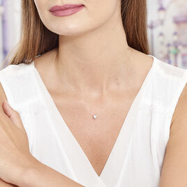Collier Nylon Argent Blanc Oxyde De Zirconium - Colliers Coeur Femme | Histoire d'Or