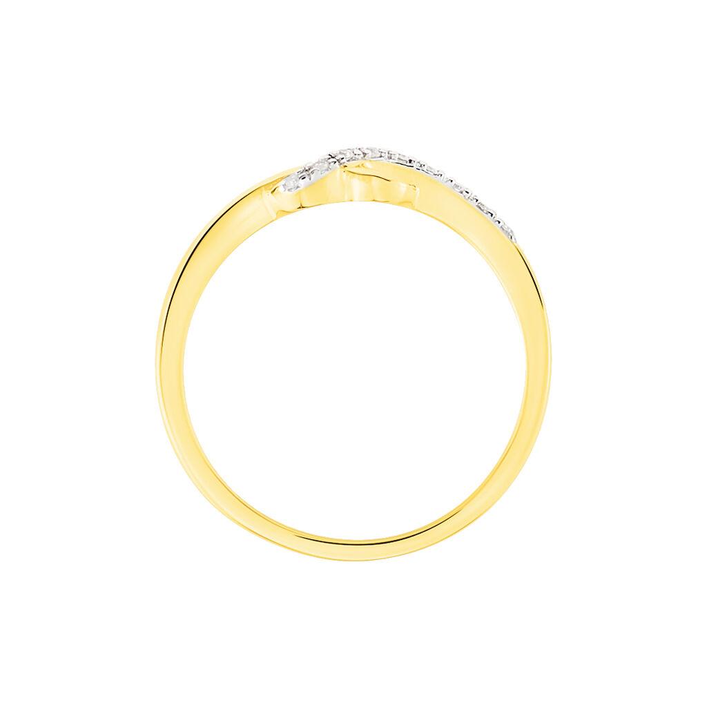 Bague Mona-lisa Or Jaune Diamant - Bagues Coeur Femme | Histoire d'Or
