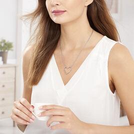 Collier Lighty Acier Blanc - Colliers Coeur Femme   Histoire d'Or