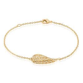 Bracelet Giulia Plaque Or Jaune Oxyde De Zirconium - Bracelets fantaisie Femme | Histoire d'Or