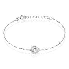 Bracelet Amantine Argent Blanc Oxyde De Zirconium - Bracelets fantaisie Femme   Histoire d'Or