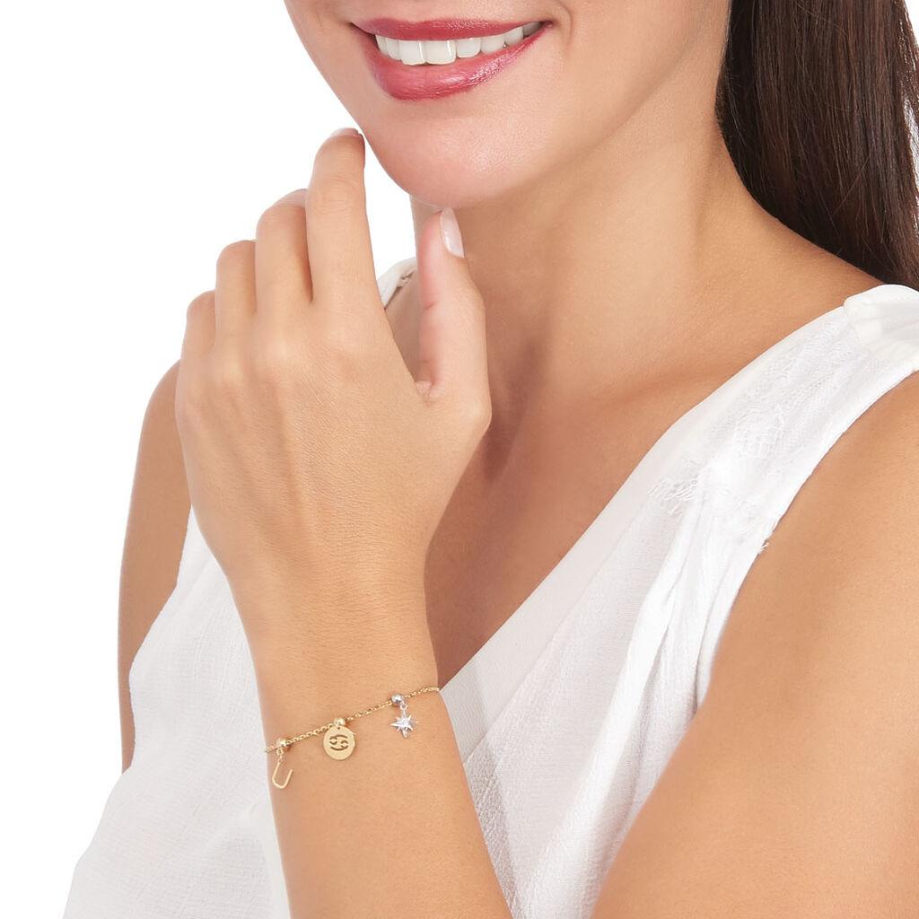 Charms Idene Or Blanc Oxyde De Zirconium - Pendentifs Etoile Femme   Histoire d'Or