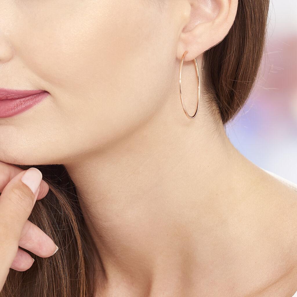 Créoles Valencina Flexibles Rondes Or Rose - Boucles d'oreilles créoles Femme | Histoire d'Or