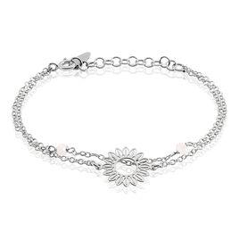 Bracelet Ombelline Argent Blanc - Bracelets fantaisie Femme | Histoire d'Or