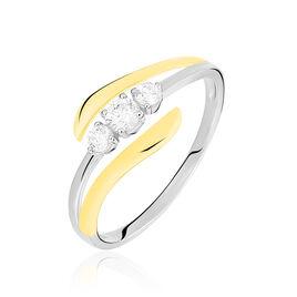 Bague Mayline Or Bicolore Diamant - Bagues avec pierre Femme | Histoire d'Or