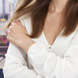 Bracelet Anne-ael Argent Blanc Oxyde De Zirconium - Bracelets Coeur Femme | Histoire d'Or
