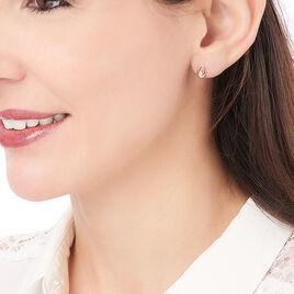 Boucles D'oreilles Pendantes Lisanaae Plaque Or Oxyde De Zirconium - Boucles d'oreilles fantaisie Femme | Histoire d'Or