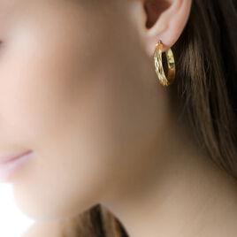 Créoles Anana Demi Jonc Or Jaune - Boucles d'oreilles créoles Femme   Histoire d'Or