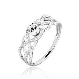 Bague Solitaire Liora Or Blanc Diamant - Bagues avec pierre Femme   Histoire d'Or