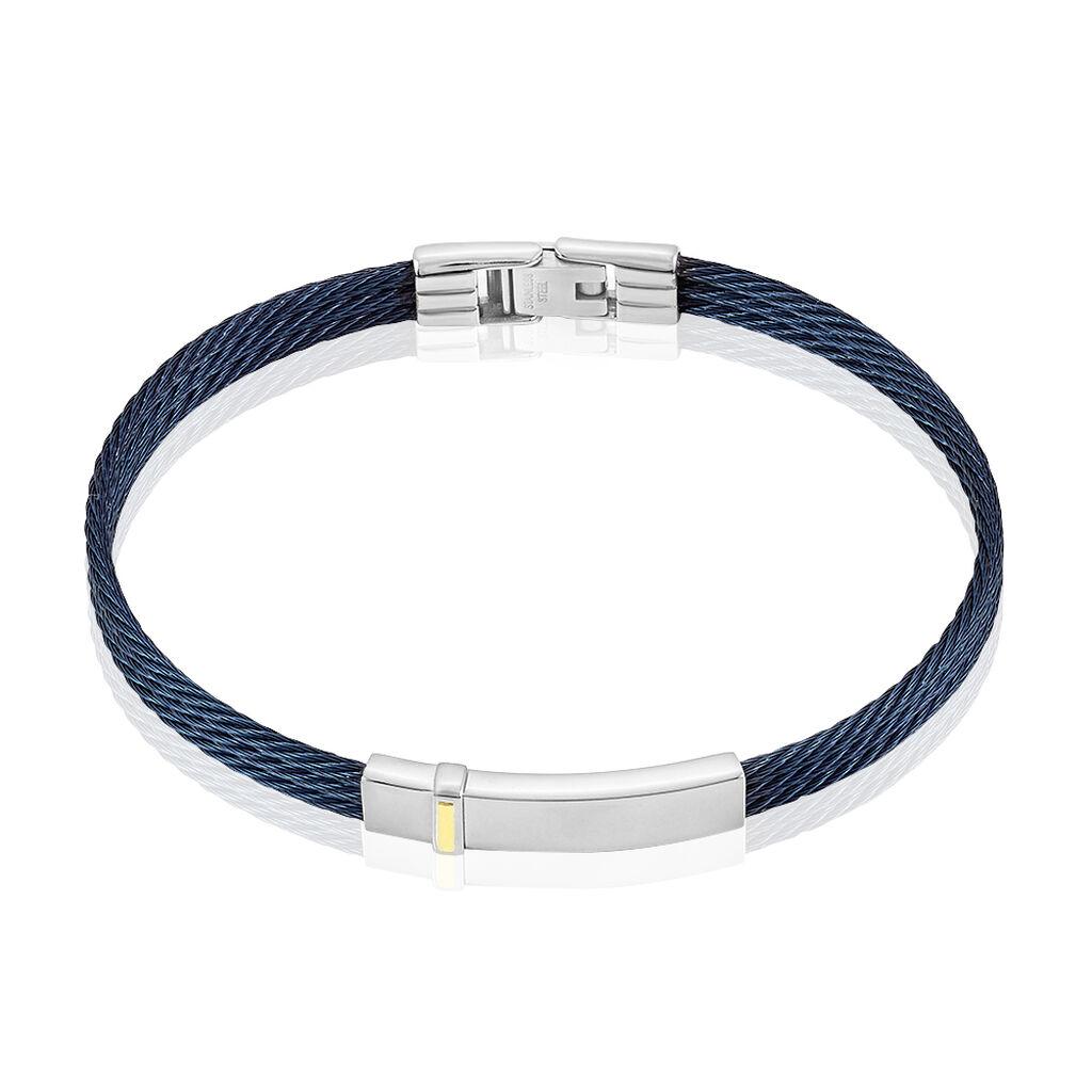 Bracelet Crystaleae Acier Blanc - Bijoux Homme | Histoire d'Or