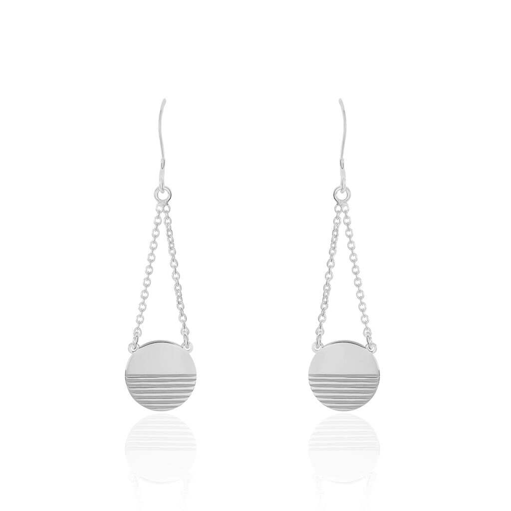 Boucles D'oreilles Pendantes Morea Argent Blanc - Boucles d'oreilles fantaisie Femme | Histoire d'Or