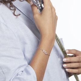 Bracelet Argent Rhodié Wendel Oxydes De Zirconium - Bracelets Infini Femme | Histoire d'Or