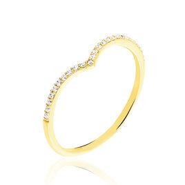 Bague Dounia Or Jaune Oxyde De Zirconium - Bagues avec pierre Femme | Histoire d'Or