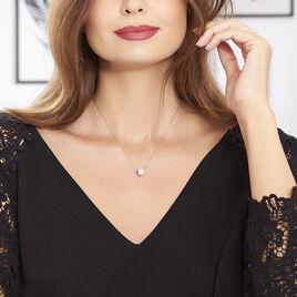 Collier Marie-ombeline Argent Blanc Oxyde De Zirconium - Colliers fantaisie Femme | Histoire d'Or
