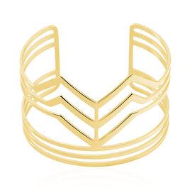 Bracelet Jonc Adel Acier Jaune - Bracelets fantaisie Femme   Histoire d'Or