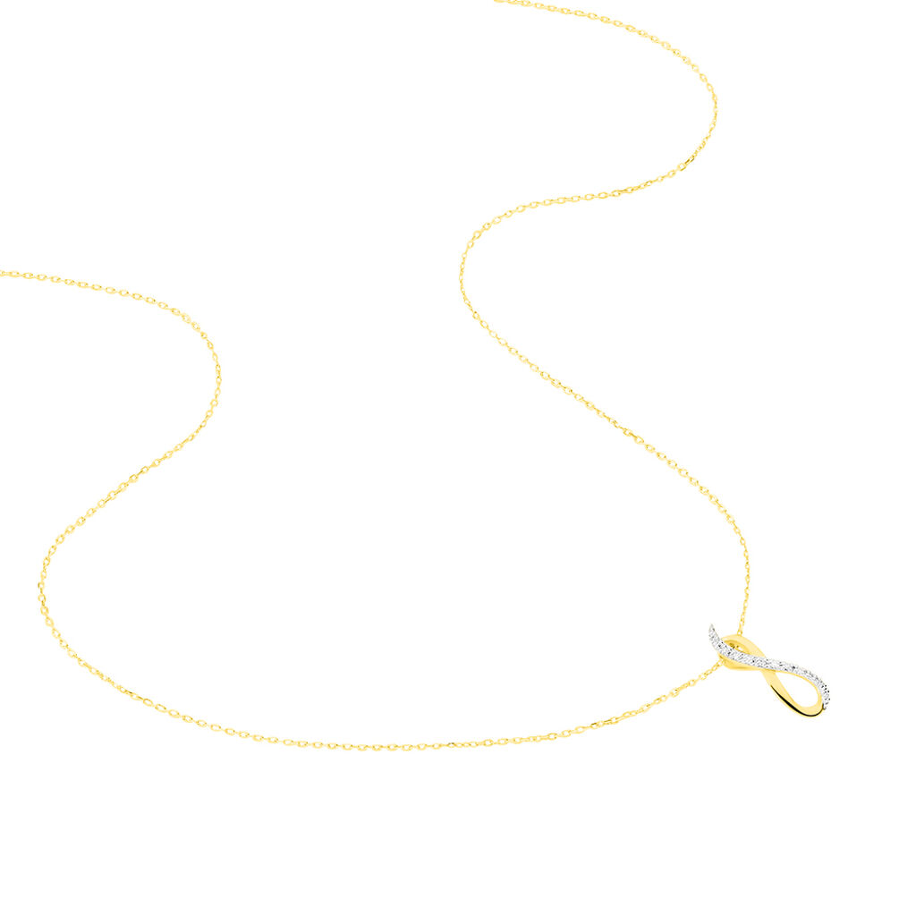 Collier Osanna Or Jaune Diamant - Colliers Infini Femme | Histoire d'Or