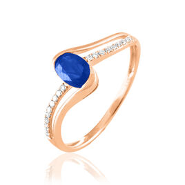 Bague Anja Or Rose Saphir Et Diamant - Bagues avec pierre Femme | Histoire d'Or