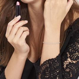 Bracelet Ciana Torsade Diamante Argent Blanc - Bracelets chaîne Femme | Histoire d'Or