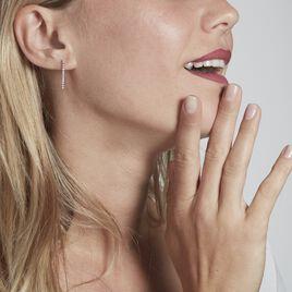 Boucles D'oreilles Pendantes Moscovado Or Blanc Diamant Synthétique - Boucles d'oreilles pendantes Femme   Histoire d'Or