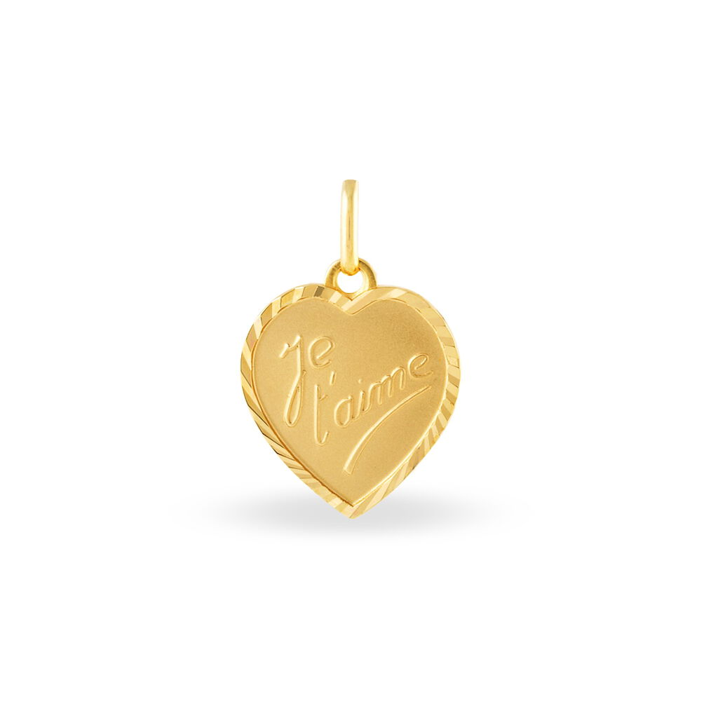 Pendentif Fiorina Plaque Or Jaune - Pendentifs Coeur Unisexe | Histoire d'Or
