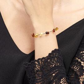 Bracelet Helier Argent Blanc Ambre - Bracelets fantaisie Femme   Histoire d'Or