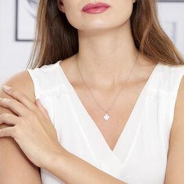 Collier Naomie Argent Blanc - Colliers Trèfle Femme | Histoire d'Or