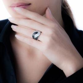 Bague Lili-rose Argent Blanc Oxyde De Zirconium - Bagues avec pierre Femme   Histoire d'Or
