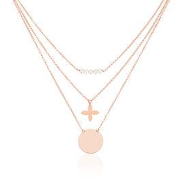 Collier Allegria Argent Rose Perle D'imitation - Bijoux Femme | Histoire d'Or
