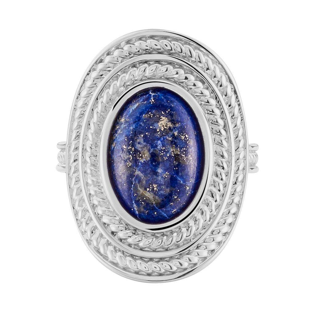Bague Takara Argent Blanc Lapis Lazuli - Bagues solitaires Femme | Histoire d'Or