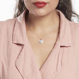 Collier Argent Rhodié Sergiane Oxydes De Zirconium - Colliers Coeur Femme | Histoire d'Or