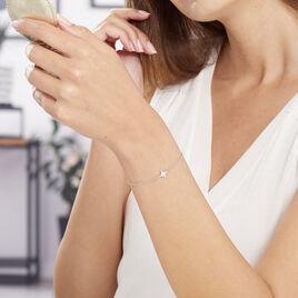 Bracelet Wiem Argent Blanc - Bijoux Etoile Femme | Histoire d'Or