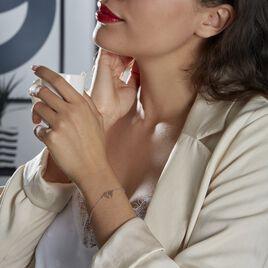 Bracelet Argent Bicolore Toyo - Bracelets Coeur Femme   Histoire d'Or
