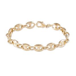 Bracelet Capucine Maille Grain De Cafe Plaque Or Jaune - Bracelets chaîne Femme | Histoire d'Or