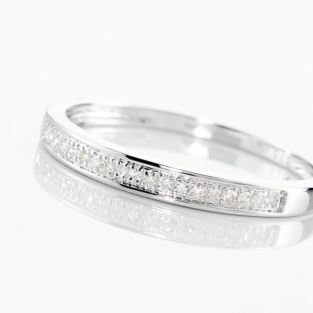 Alliance Divya Or Blanc Diamant - Alliances Femme   Histoire d'Or