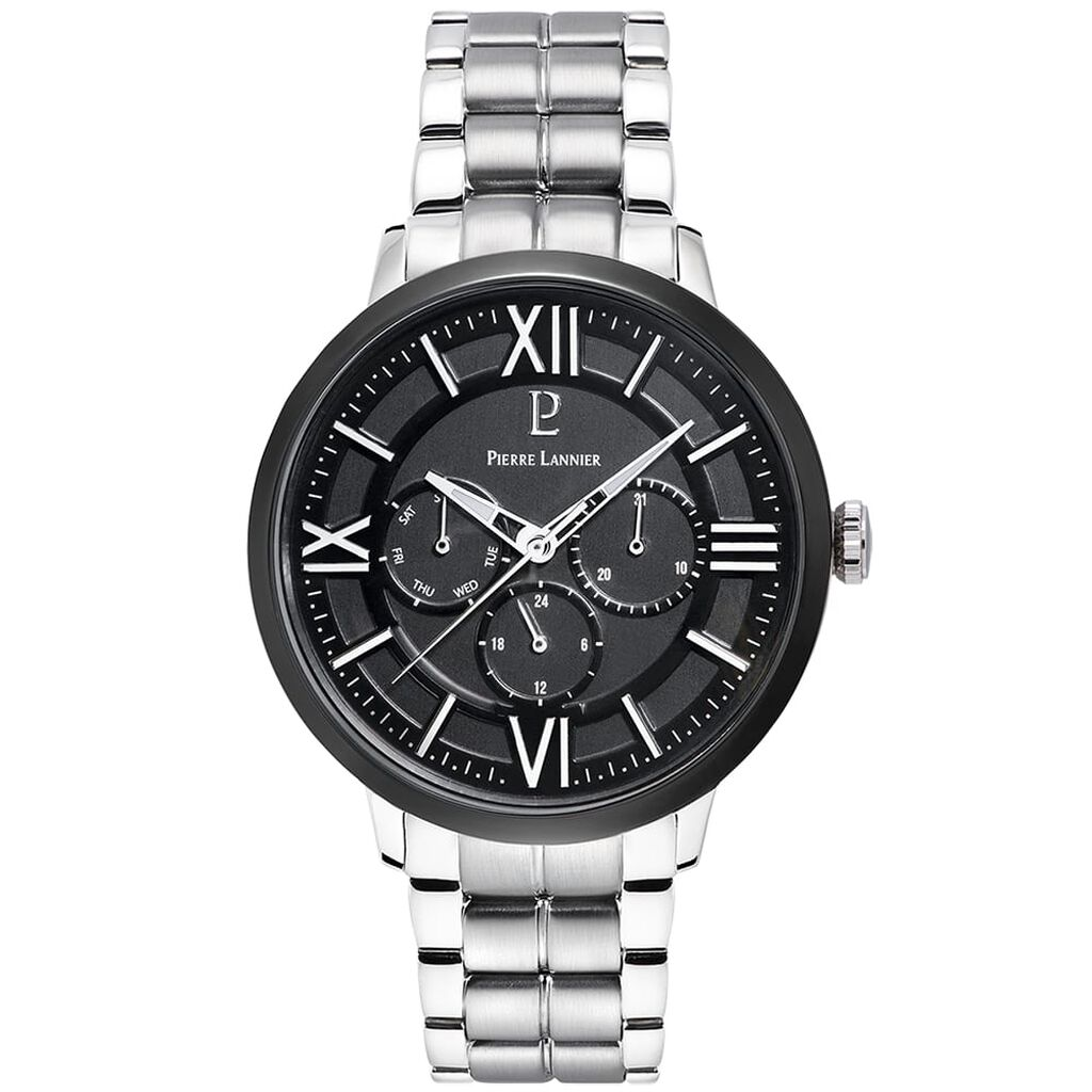 Montre Pierre Lannier Collection Beaucour Noir