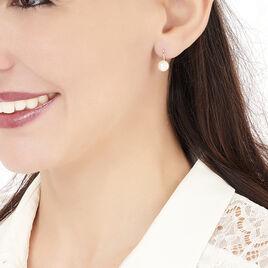 Boucles D'oreilles Pendantes Akoya Or Jaune Perle De Culture D'akoya - Boucles d'oreilles pendantes Femme | Histoire d'Or