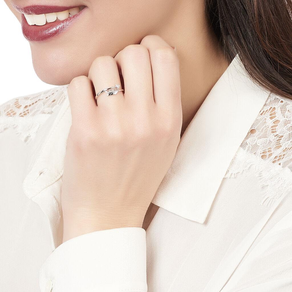Bague Fleche Or Blanc Diamant - Bagues avec pierre Femme   Histoire d'Or